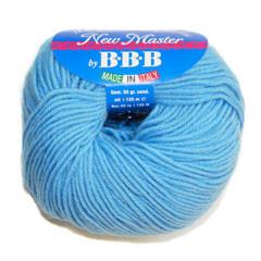 Пряжа для вязания НЬЮ МАСТЕР Италия цвет голубой 6664/33