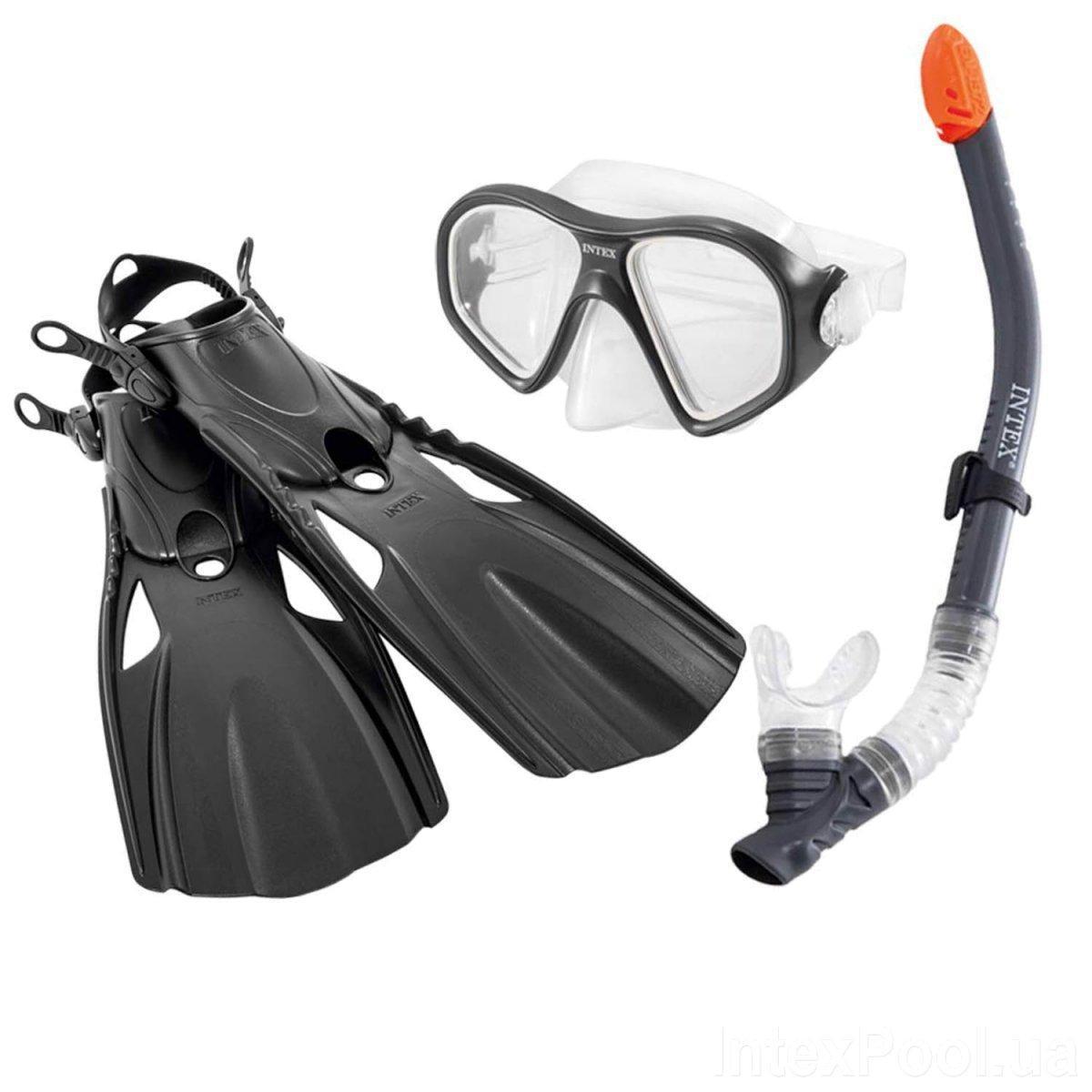 Набір для плавання дайвінгу Intex 55657 маска, трубка, ласти Вікова група: 14+