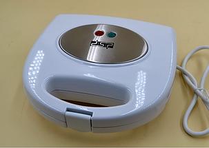 Электрическая вафельница с атипригарным покрытием белого цвета DSP KC1058 (750 Вт), фото 2