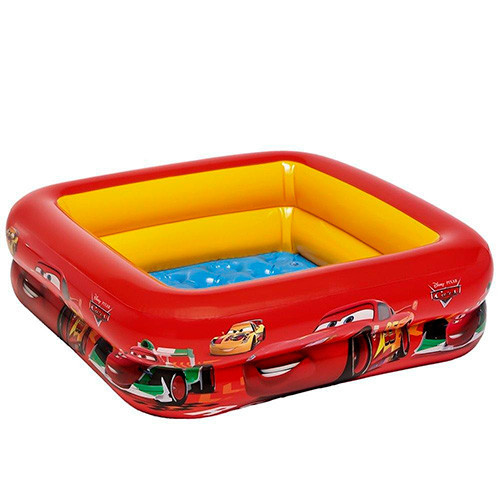Детский бассейн Intex 57101 Тачки, надувное дно, размер 85-85-23 см
