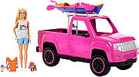 Кукла Барби кемпинг, розовый пикап и каяк Barbie Camping Fun Doll, Pink Truck and Sea Kayak Mattel