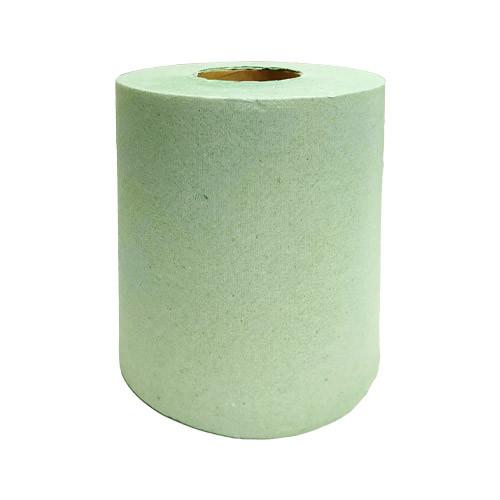 Бумажные полотенца макулатурные зелёные в рулоне, 120 м