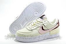 Женские кроссовки в стиле Nike Air Force 1 Shadow Mystic, Beige, фото 3