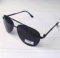 Мужские солнцезащитные очки авиаторы Matrix реплика Черные, фото 1