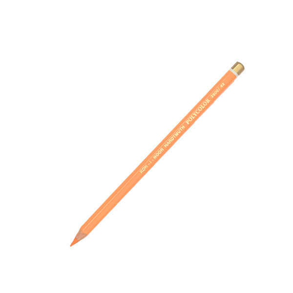 """Олівець кол. """"K-In"""" Polycolor 3800-42 хромовий помаранчевий"""