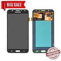 Модуль (дисплей + сенсор) для Samsung J701F / DS Galaxy J7 Neo AMOLED черный