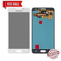 Модуль (сенсор + дисплей) для Samsung A300F Galaxy A3, A300FU Galaxy A3, A300H Galaxy A3 AMOLED белый