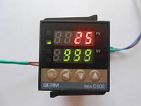 REX-C100. Программируемый PID (ПИД) контроллер температуры REX-C100FK02-V*DN.  0°C --- +999°C, выход - SSR.