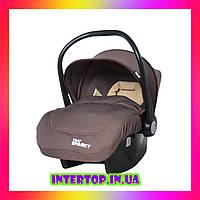 Детское автокресло для новорожденных автолюлька группа 0+ (0-13 кг) TILLY Sparky T-511 Коричневый