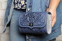 Кожаная сумочка трансформер, сумочка-клатч на плечо/на пояс, фото 1