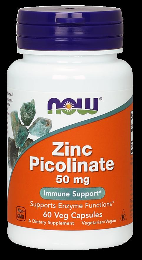 NOW Foods Zinc Picolinate 50 мг 60 caps