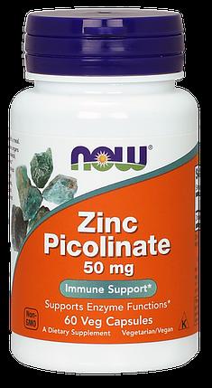 NOW Foods Zinc Picolinate 50 мг 60 caps, фото 2