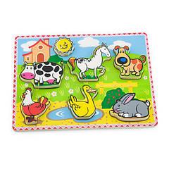 "Рамка-вкладиш Viga Toys ""На фермі"" (56438)"
