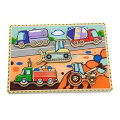 Дерев'яна рамка-вкладиш Viga Toys Спецмашини (56439)