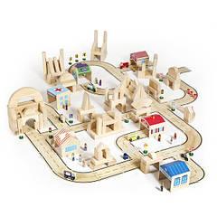 Игровой набор Guidecraft Block Play Дорога из дерева, 42 эл. (G6713)