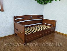 """Диван кровать из массива натурального дерева с выдвижными ящиками """"Луи Дюпон"""""""
