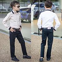 Стильные школьные брюки для мальчиков черные, фото 1