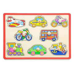 "Пазл-вкладиш Viga Toys ""Транспорт"" (50016)"