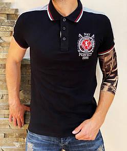 Поло PERFECT 1995 black (Мужская футболка)