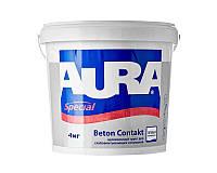Грунт с кварцевым песком AURA BETON CONTACT адгезионный 4кг