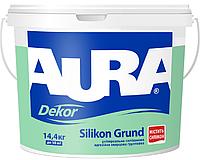 Грунт с кварцевым песком AURA DEKOR SILIKON GRUND адгезионный 10л
