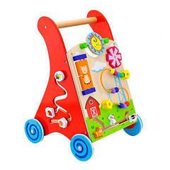 Ходунки-каталка Viga Toys з бизибородом (50950)