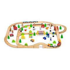 Деревянная железная дорога Viga Toys 90 эл. (50998)