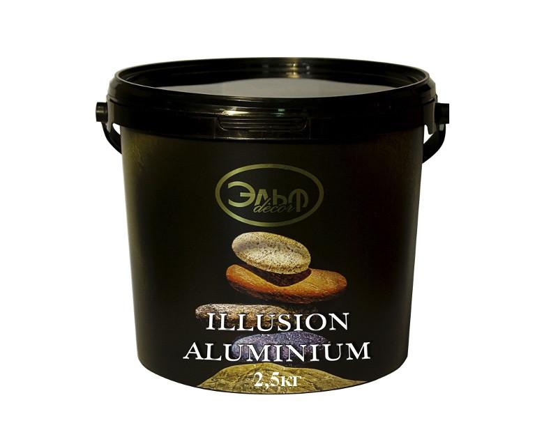 """Штукатурка """"алюмінієвий шовк"""" ELF DECOR ILLUSION ALUMINIUM декоративна 2,5 кг"""