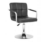 Кресло парикмахерское Артур, кожзам, цвет черный, пневматика