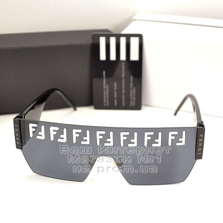 Женские солнцезащитные очки Fendi маска цельная линза Фенди Модные 2020 Стильные Брендовые реплика
