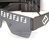 Женские солнцезащитные очки Fendi маска цельная линза Фенди Модные 2020 Стильные Брендовые реплика, фото 2