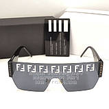 Женские солнцезащитные очки Fendi маска цельная линза Фенди Модные 2020 Стильные Брендовые реплика, фото 5