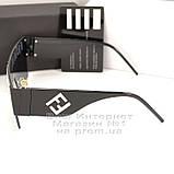 Женские солнцезащитные очки Fendi маска цельная линза Фенди Модные 2020 Стильные Брендовые реплика, фото 4