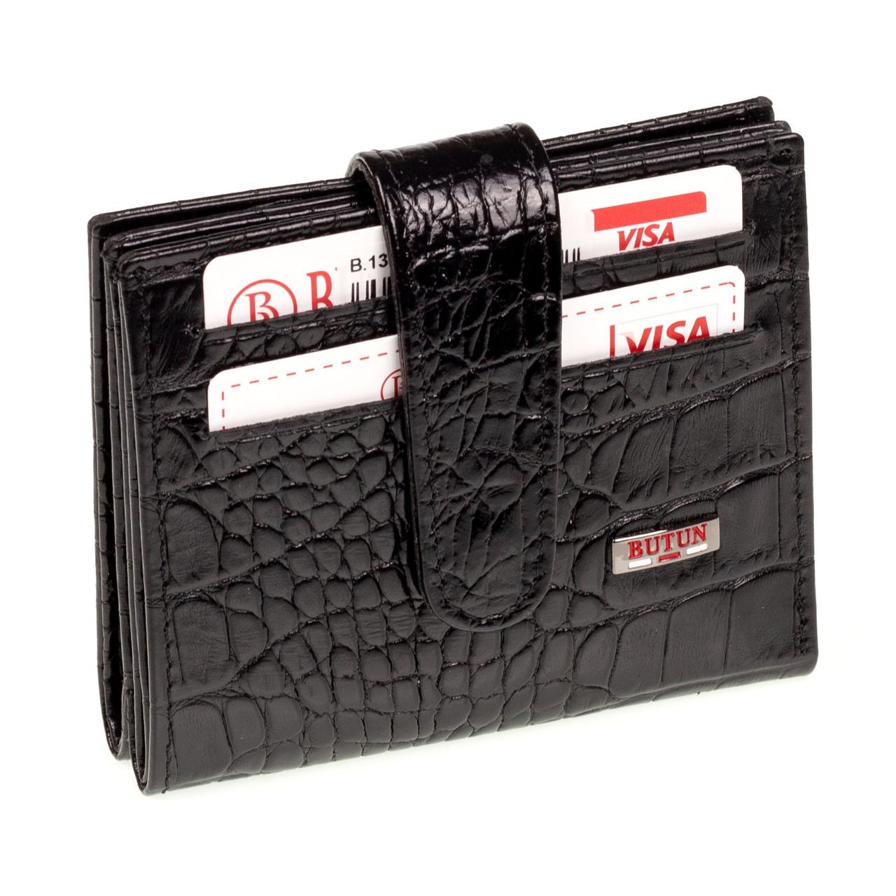 Кошелек для карточек кожаный BUTUN 131-002-001 черный