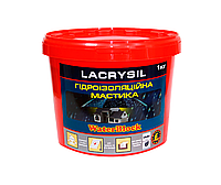 Мастика акриловая LACRYSIL ГИДРОИЗОЛЯЦИОННАЯ, белая, 1.2кг