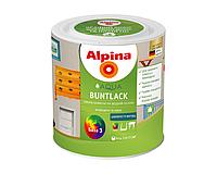 Эмаль акриловая ALPINA AQUA BUNTLACK УКРАИНА универсальная шелковисто-матовая транспарентная - база B3 2,5л