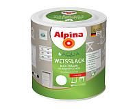 Эмаль акриловая ALPINA AQUA WEISSLACK УКРАИНА универсальная глянцевая белая - база B1 2,5л