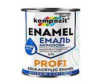Эмаль акриловая KOMPOZIT PROFI универсальная база С полуматовая 2,7л