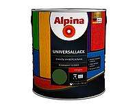 Эмаль алкидно-уретановая ALPINA UNIVERSALLACK GLANZEND БЕЛАРУСЬ универсальная зеленая 2,5л