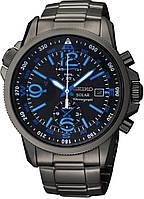 Мужские часы  Seiko SSC079P1  Solar Alarm Chronograph
