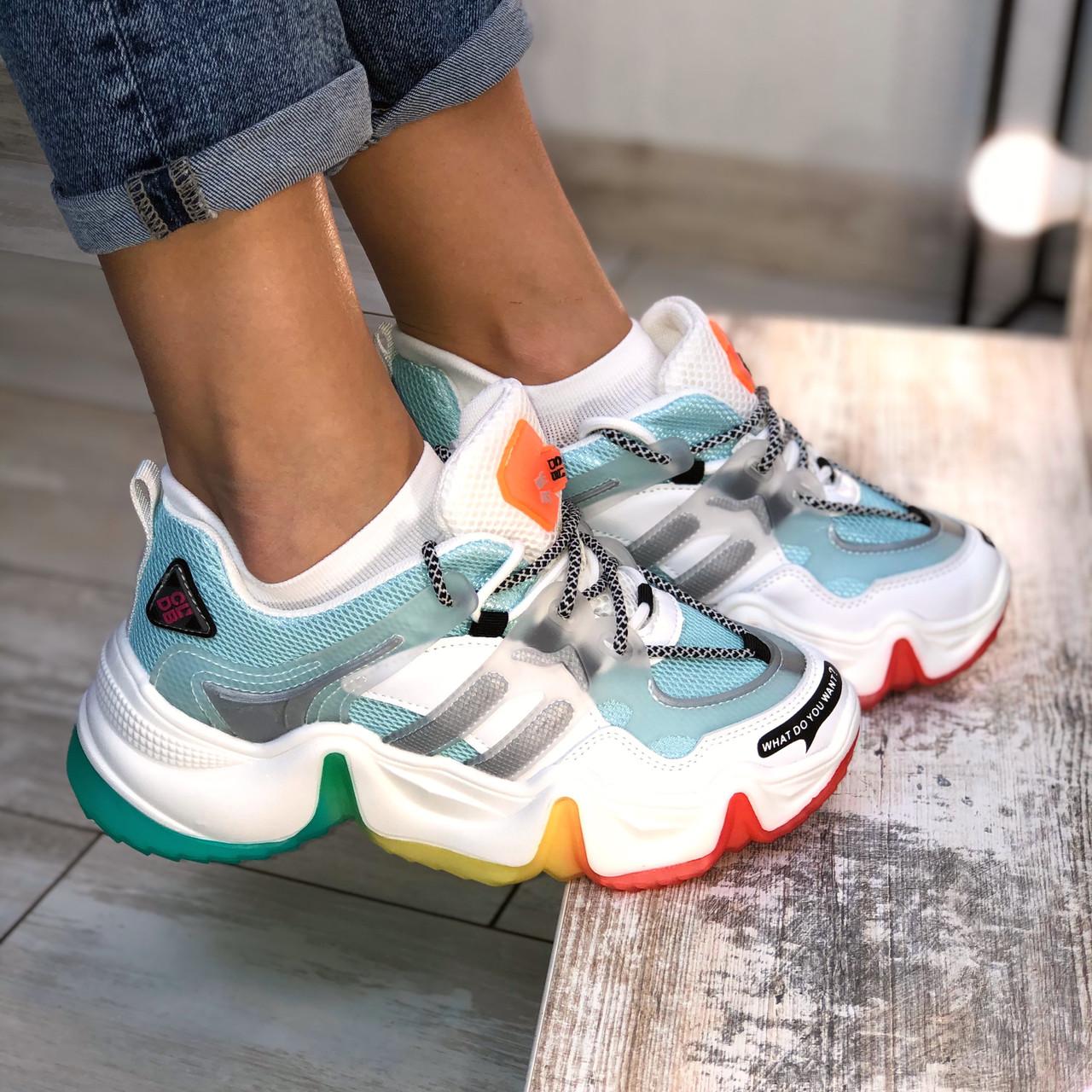 Кросівки жіночі з райдужної підошвою