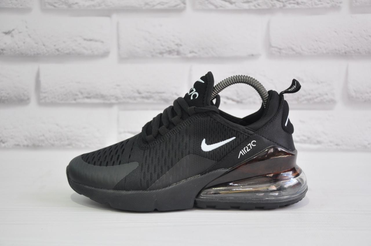 Черные кроссовки сетка в стиле Nike Air 270 (размеры в наличии:37,38,39,40,41)