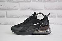 Черные кроссовки сетка в стиле Nike Air 270 (размеры в наличии:37,38,39,40,41), фото 1