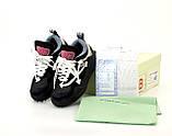Мужские кроссовки Off-White Odsy-1000 в стиле Офф Вайт ЧЕРНЫЕ (Реплика ААА+), фото 3