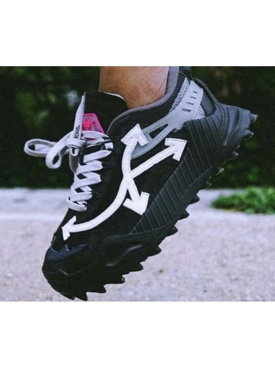 Мужские кроссовки Off-White Odsy-1000 в стиле Офф Вайт ЧЕРНЫЕ (Реплика ААА+)