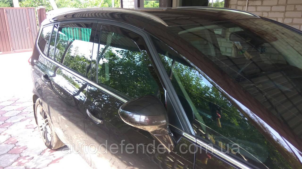 Дефлектори вікон (вставні!) вітровики Opel Zafira C 2012-2018 4шт., HEKO, 25329