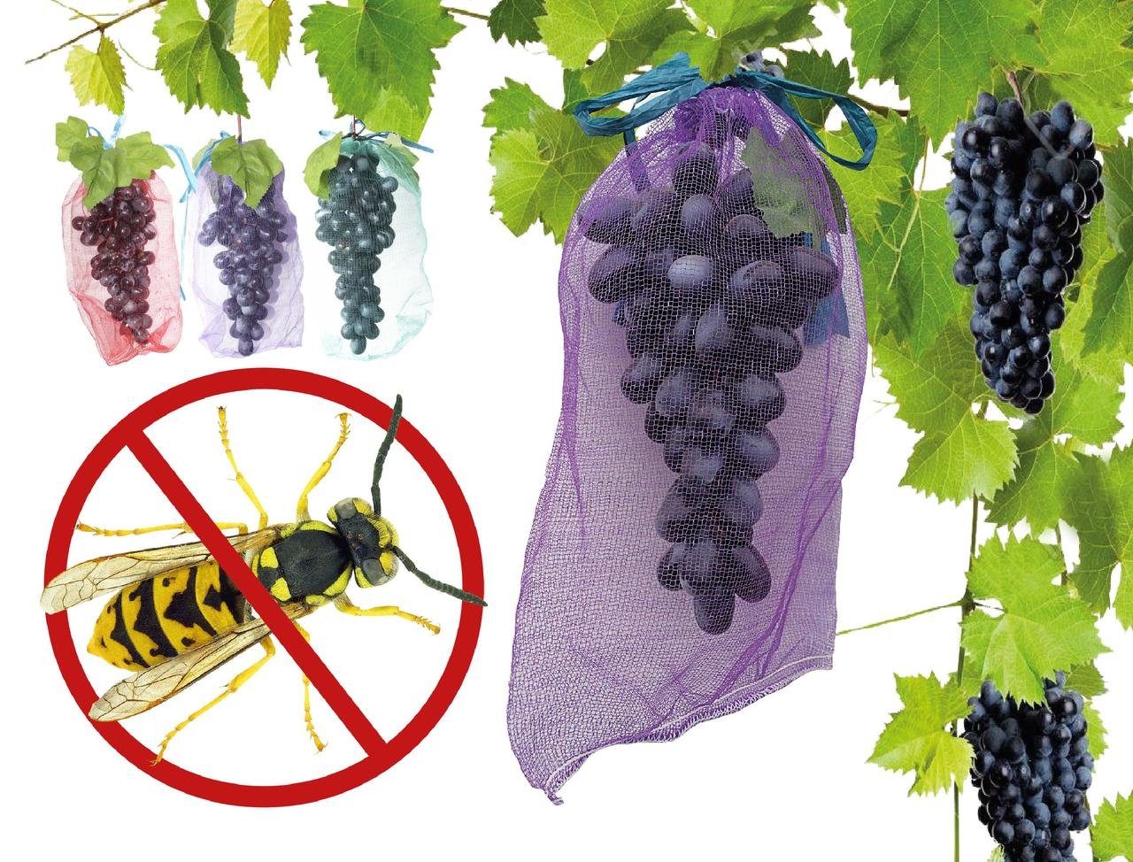 Сетка (мешок) от ОС 150 шт для винограда на 5 кг, 28*40 см 150 шт