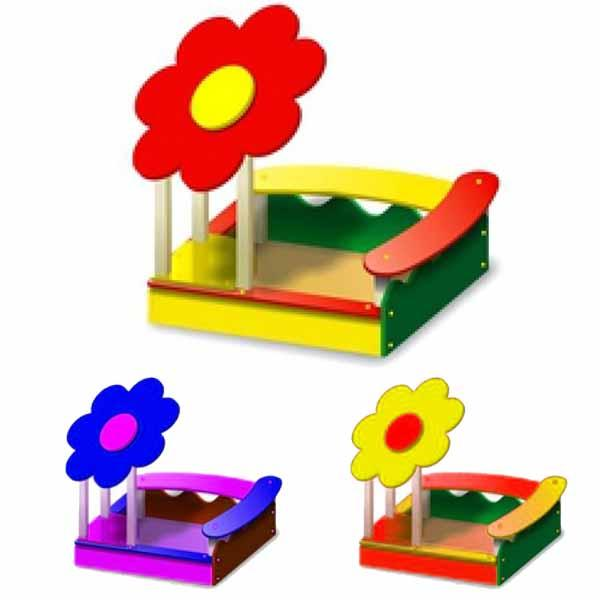 Песочница детская - Цветок 2. Любой Цвет. Размеры: 1500х1500х1700