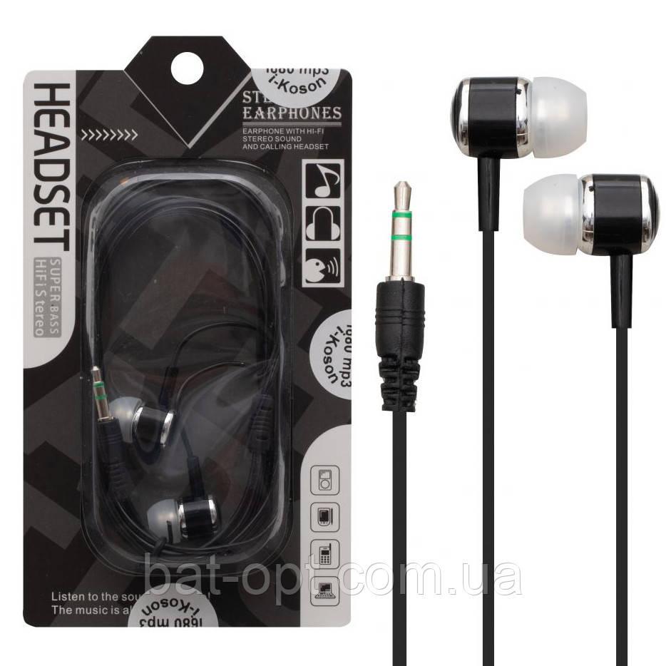 Наушники вакуумные i-Koson i-680 MP3 черная