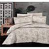 Комплекты постельного белья First Choice. Satin Бежевый-Евро 7433